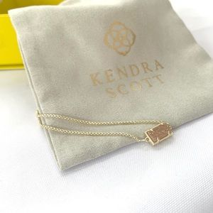 NEW Kendra Scott 14k gold drusy slider bracelet